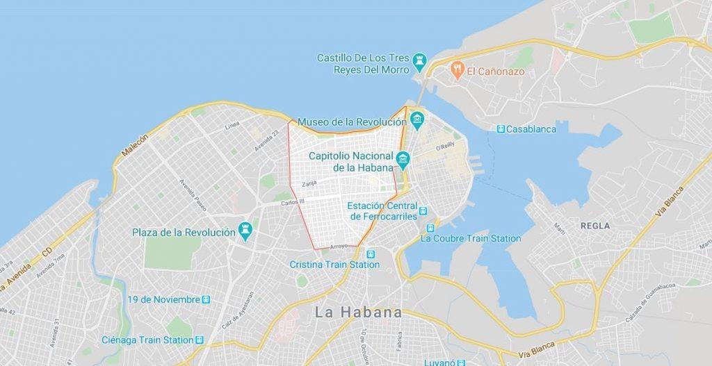 mapa centro habana