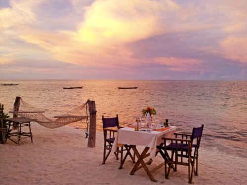 Hotel Jambiani cenas playa
