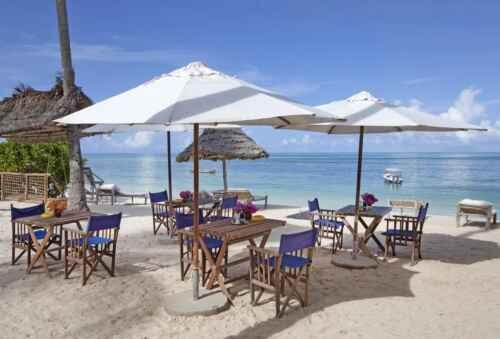 Hotel Jambiani restaurante-playa