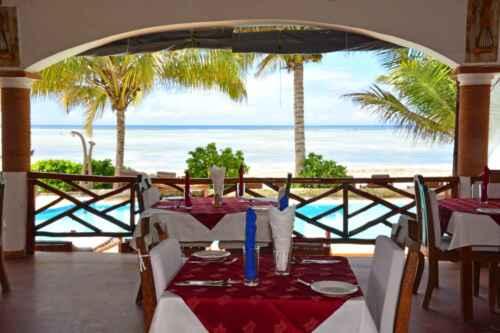 Restaurante hotel bahari villas en matemwe - baharytravels